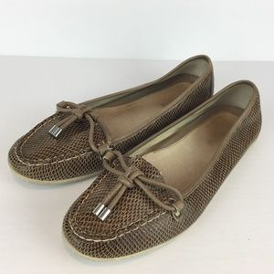 Sperry Top-Sider light brown slip on loafers 9M